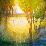 Mark Gould, Into The Light: Arcadian 937, acrylic, 12 x 16.