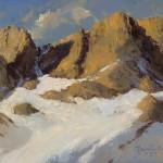 David Griffin, Jackson Skyline, oil, 9 x 12.