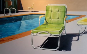 James Shilaimon, Hanna's Old Chair, oil, 38 x 28.