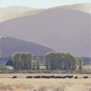 Evening, oil, 48 x 48.