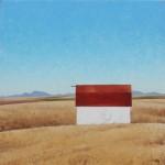 Jared Sanders, Montana Sea, oil, 36 x 36.