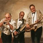 Jazz Legends, oil, 20 x 24.