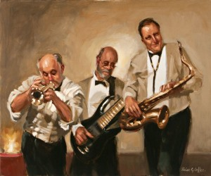Jazz Legends, oil, 20 x 24.