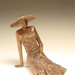Jeannine Young, In the Moment, bronze, 8 x 8 x 8.
