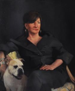 Jennifer Gennari, Cheryl Penn, oil, 36 x 30.