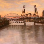Jennifer Diehl, Over the River, oil, 36 x 48. Estimate: $5,850.