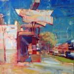 Jim Beckner, Cherry Cricket (Cherry Creek), oil, 24 x 24.