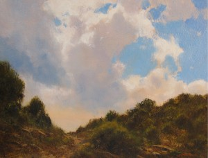 John D. Phillips, Summer Hardscrabble, oil, 9 x 12.