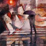 John Harrell, NYC, acrylic, 18 x 18.