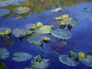 Jennifer Johnson, Fall Lilies, oil, 30 x 40.