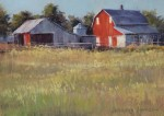 Jennifer Johnson, Red Barn Study, oil, 9 x 12.