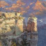 Joshua Been, Sunrise on Moran Point, oil, 48 x 24.