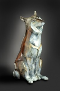 Joshua Tobey, Ace, bronze, 36 x 17 x 17.
