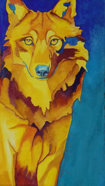 Karen Ahlgren, Soul Survivor, watercolor/gouache, 20 x 11.