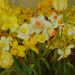 Kathy Anderson, Spring Yellow, oil, 12 x 16.