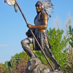 Kathy Wardle, Warrior, bronze, 168 x 42 x 54.