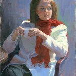 Sarah Keller, The Sidelong Glance, oil painting