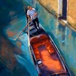 Kelly Berger, Venetian Commute, acrylic, 22 x 28.