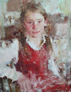 Carolyn Anderson | Kenna, oil, 14 x 11.