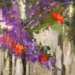 Kit Hevron Mahoney, Colors of Poetry, acrylic, 24 x 24.