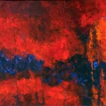 Kit Hevron Mahoney, Burning Kiss, acrylic, 30 x 40.
