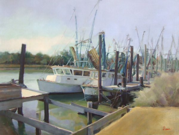 Alana Knuff, Sunday on Jeremy Creek, oil, 30 x 40.