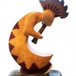 Upton Ethelbah, Kokopelli I, bronze, 13 x 9 x 4.