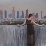 Derek Harrison, LA Woman, oil, 20 x 30.