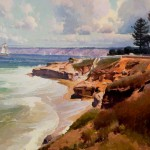 Calvin Liang, La Jolla Cove, San Diego, oil, 24 x 36.