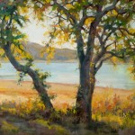 Robert Rohm, Lakeside Color, oil, 24 x 30.