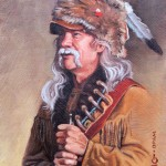 Steven Lang, Man of the Rockies, oil, 7 x 5.
