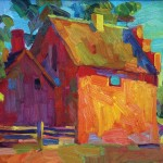 Larisa Aukon painting