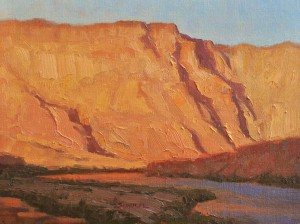 Greg Scheibel, Last Light, oil, 9 x 12.