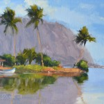 Laurel Daniel, Waterfront Lanai, oil, 9 x 12.
