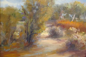 Nancy Lewis, Connected Lakes, pastel