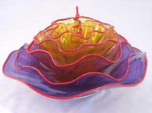 Linda Allyn, Blossom, glass, 11 x 16.