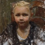 Mike Malm, Little Girl, oil, 13 x 10.
