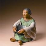Liz Wolf, Dreamtime, bronze, 16 x 12 x 16.