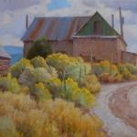 J. Chris Morel | Llano Adobe, oil, 30 x 40.