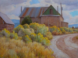J. Chris Morel | Llano Adobe, oil, 30 x 40.