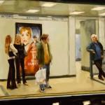 London Underground, oil, 18 x 24.