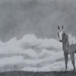 Lorrie Beck, Shades of Gray, pencil, 11 x 21.