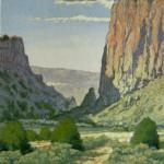Diablo Canyon Storm, woodblock, 14 x 11.