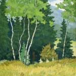 Summer Solstice, woodblock print, 20 x 16.