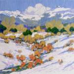 Tampas Meadow, woodblock, 8 x 8.