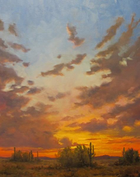 Jeff Love, Solitary Repose, oil, 30 x 24.