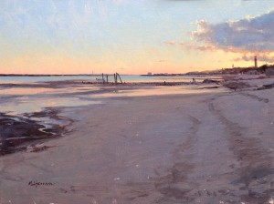 Marc Hanson, Low Tide Silence, oil, 12 x 16.