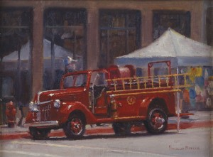 Douglas Morgan, Classic Engine, oil, 12 x 16.