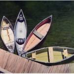 4 Canoes at Kanuga by James Scott Morrison