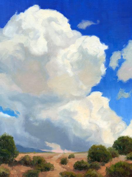 Lee MacLeod, Building Up, oil, 14 x 11.
